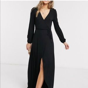 ASOS Long Sleeve Maxi Wrap Dress